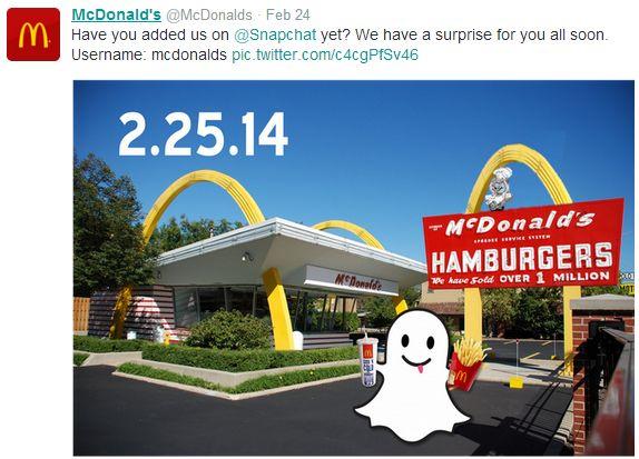 McD Snapchat