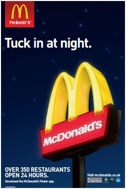 """McDonald's has successfully targeted a niche """"night owl"""" market successfully via mobile"""