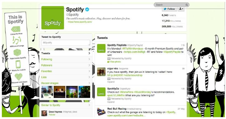 Spotify old page
