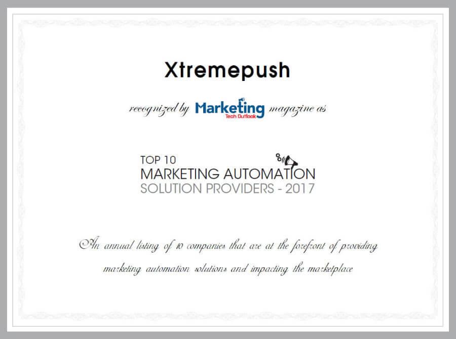 Marketing Tech Outlook Certificate