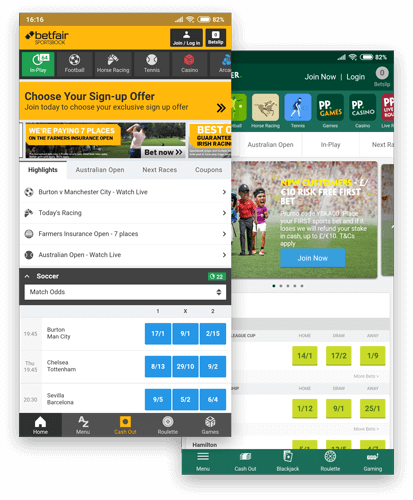 Paddy Power Betfair Apps