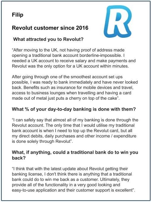 A neo banking customer's opinion on digital banking