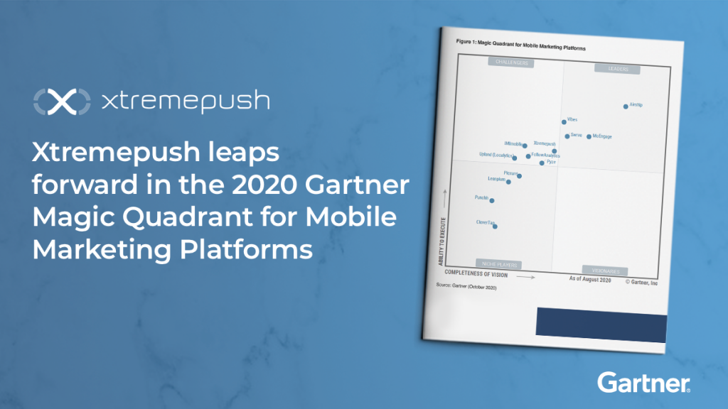 xtrempush in the 2020 gartner magic quadrant