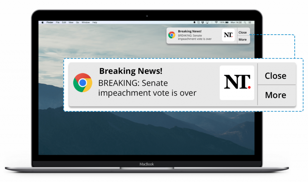 website notifications for digital publishers