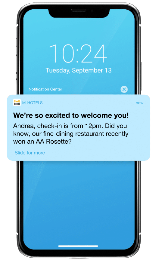Growth marketing before a customer's booking